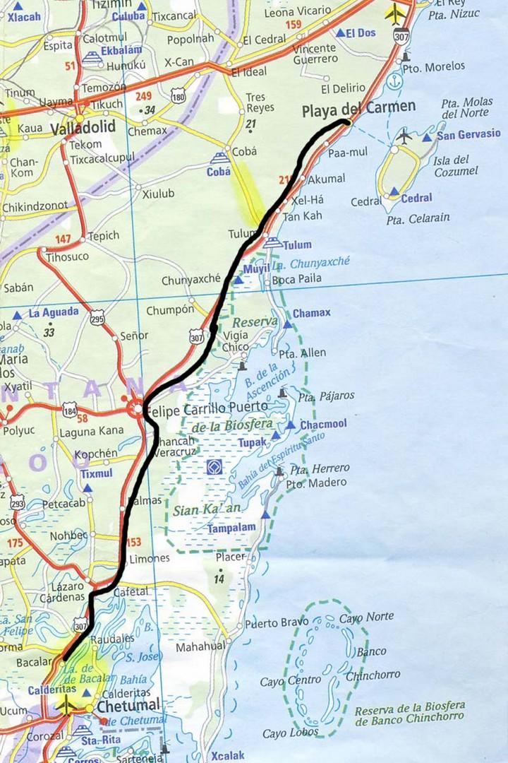 Messico da laguna bacalar a playa del carmen viaggi - Mappa messico mappa da colorare pagina ...