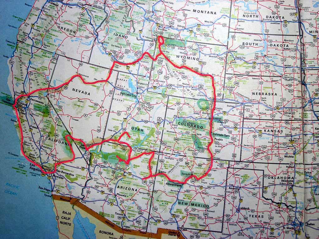 Cartina Stradale Usa Ovest.Racconto E Diario Di Viaggio Self Drive Negli Stati Uniti Diariovacanze It